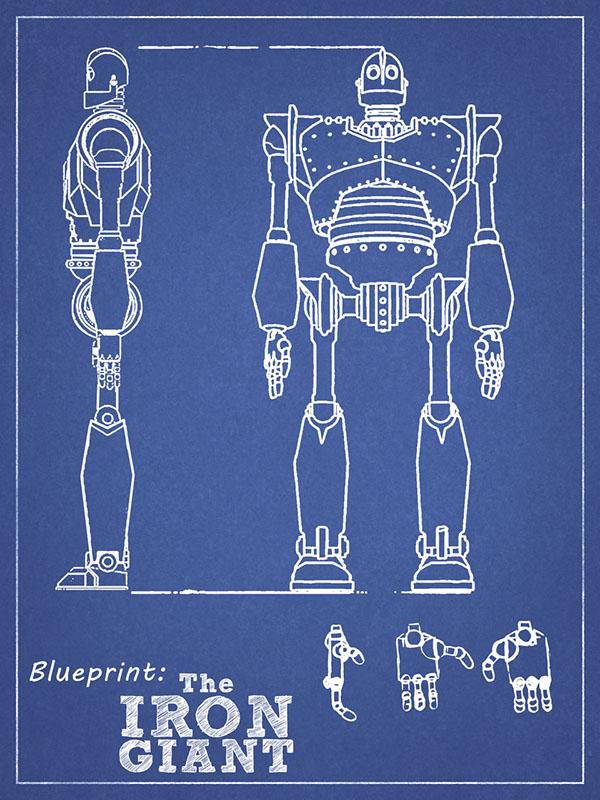 The iron giant on pantone canvas gallery blueprint malvernweather Image collections