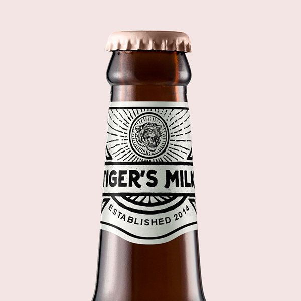 Tiger 39 s milk craft beer label on pantone canvas gallery for Craft beer cycling jerseys