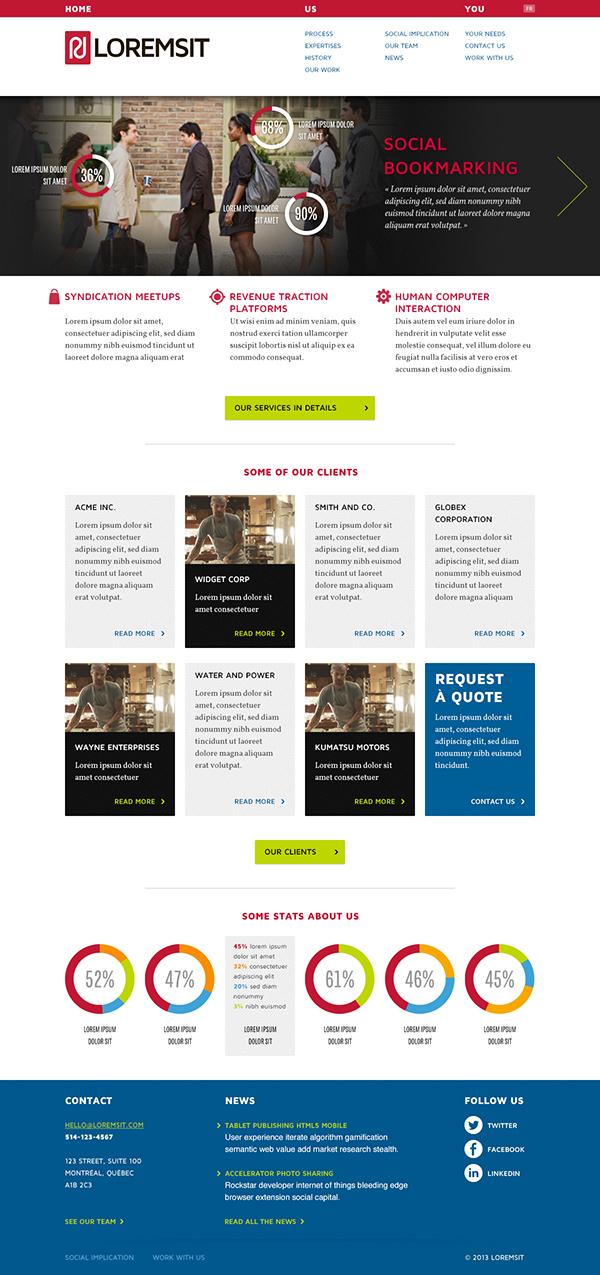 Site corporatif Proposition