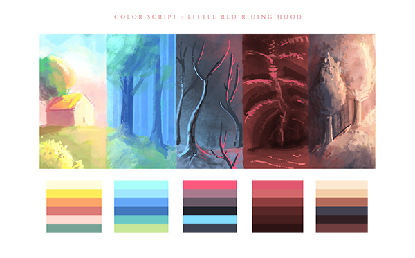 Little Red Riding Hood Color Script On Pantone Canvas Gallery