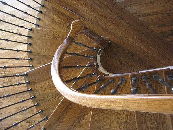 Curved Stair Treads And Radius Handrail On Behance