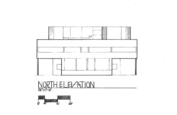 North N Home Plan And Elevation : Villa savoye north elevation on scad portfolios