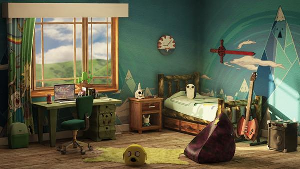 Adventure time bedroom on behance for Adventure bedroom ideas