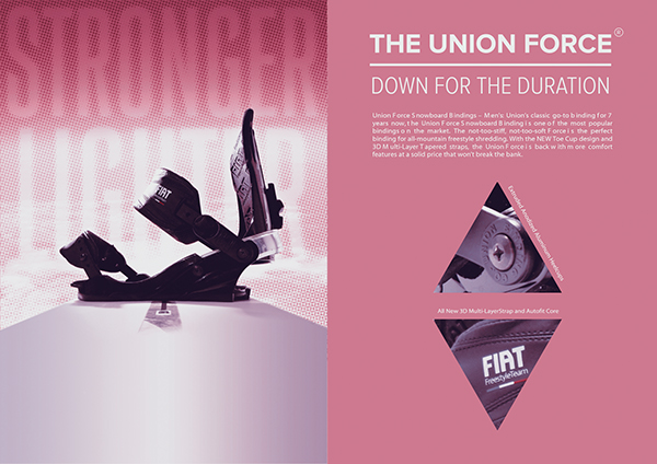 Union Binding Company snowboard Space  poster