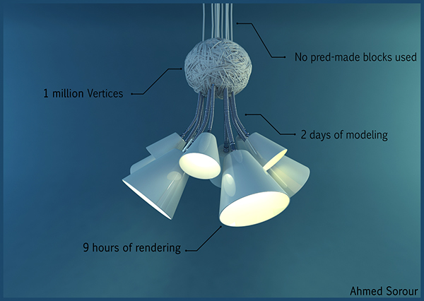 Interior 3dmax vray Lamp