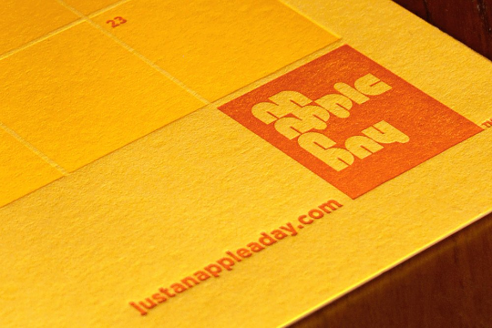 letterpress calendar poster grid stickers aiga brand brand identity
