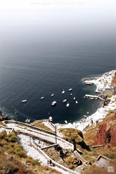 santorini Greece Island vacation summer Travel trip Holiday water sea bay Sun Editing  Landscape impression