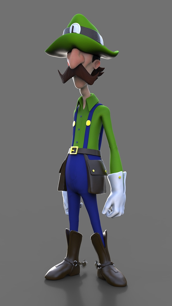 Gunslinger Luigi by Diego Caldas