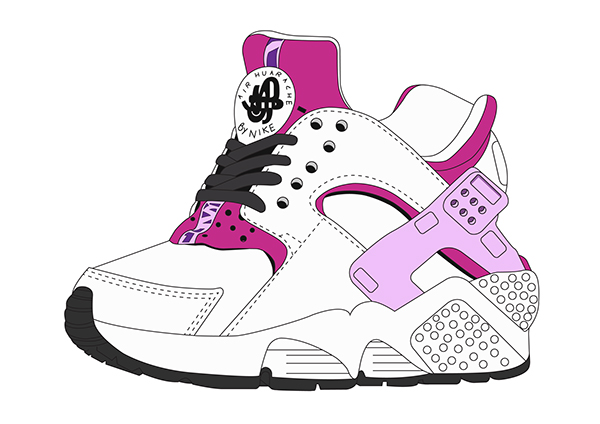 wholesale dealer 4837b 785ba Nike Air Huarache. Drawing ...