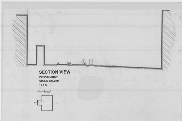 how to see a section in elevation view