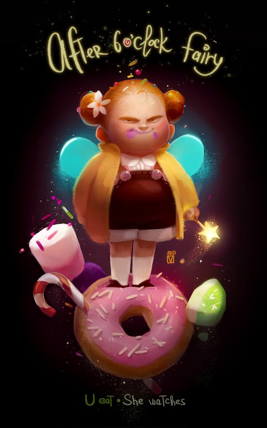 fairy fat wow art kid
