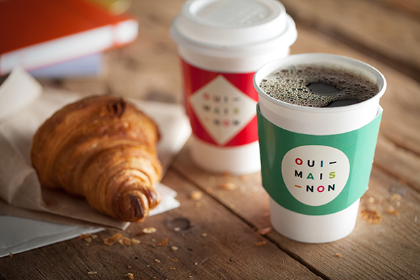 Montreal Coffee coffee shop cafe colors game couleurs coffee sleeve