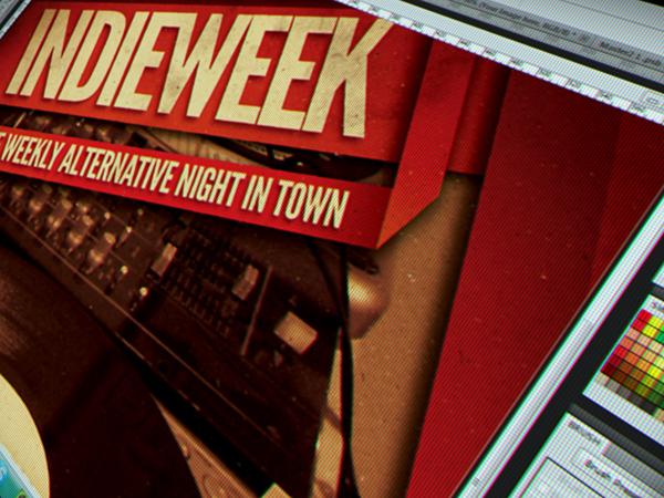 flyer poster template psd gig vintage Retro vinyl concert indie alternative underground festival orange