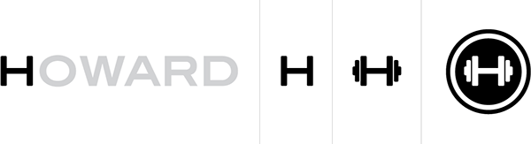 logo design howard personal trainer on behance