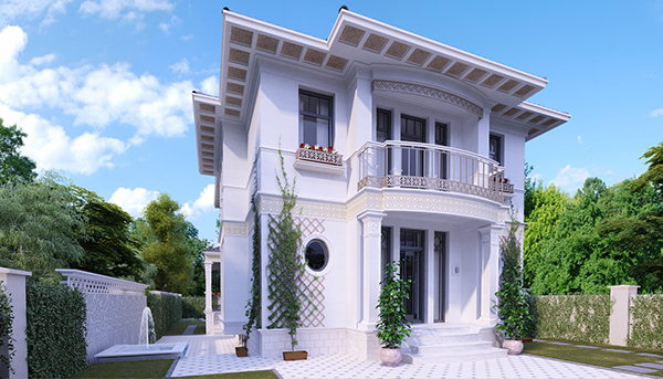 Classic facade design on behance for Classic house facades