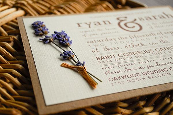 Purple Rustic Wedding Invitations: Rustic-Lavender Wedding Inviation Suite On Behance