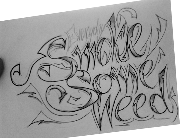 Skull Smoking Weed Drawing Smoke Some Weed...600