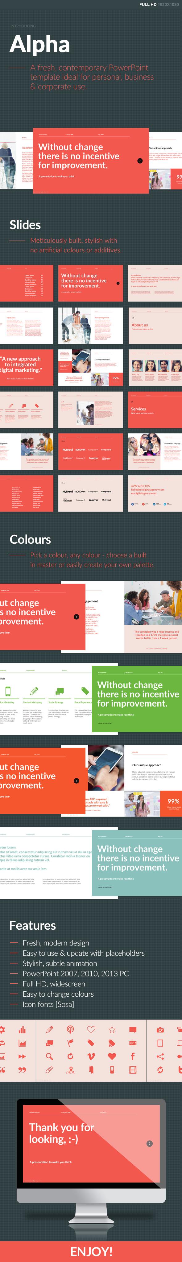 Alpha powerpoint template on behance toneelgroepblik Choice Image