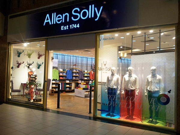 color lab displays  allen solly aw u0026 39 13 on behance