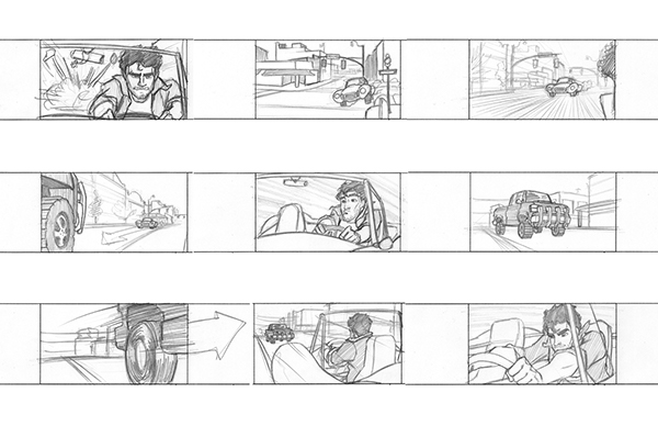 Car Chase Storyboards On Behance