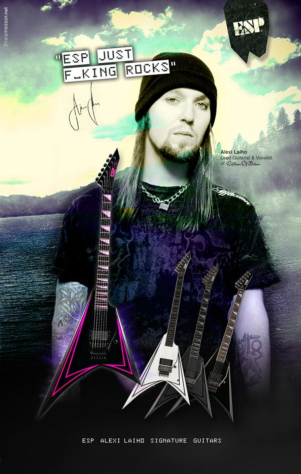 esp guitars alexi laiho laiho guitarist Children of bodom lake bodom metal death metal messor thisismessor lake