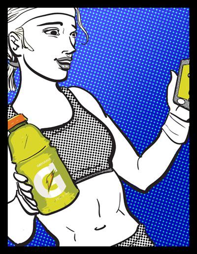 pepsico gatorade naked juice poster
