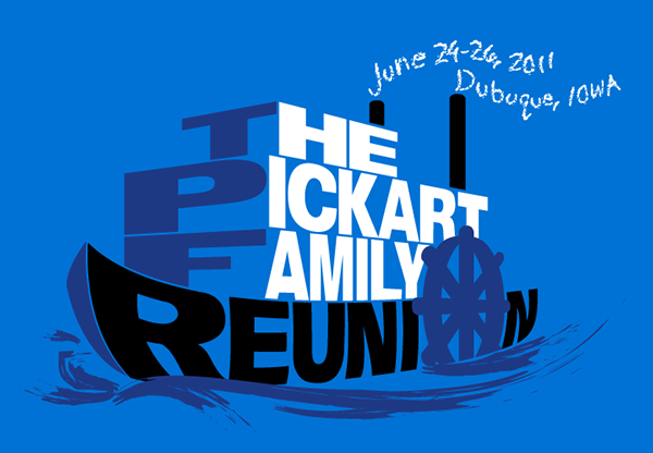 pickart family reunion t shirt logo on behance