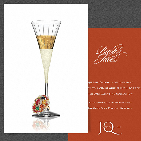 Jewels by queenie branding on behance an invitation to a jbq jewellery exhibition themed bubbly jewels stopboris Image collections