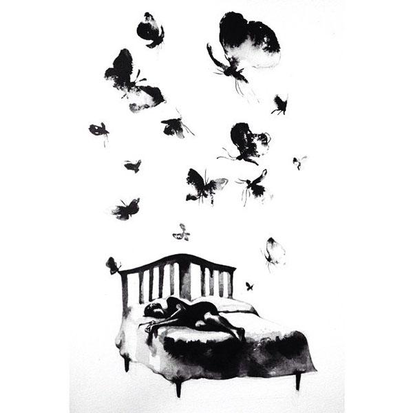 #lolita #Nabokov #vladimirnabokov #illustration #humbert #humbertlolita #ink Love tenderness passion moth girl man