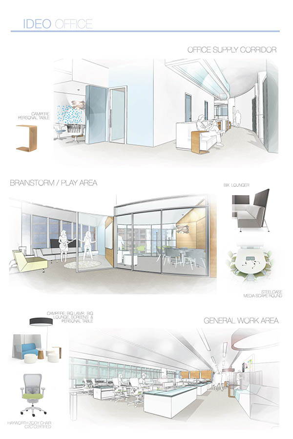 Ideo office interiors on behance for Interior design office ppt