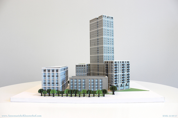 Paper-Craft Architecture Model on Student Show