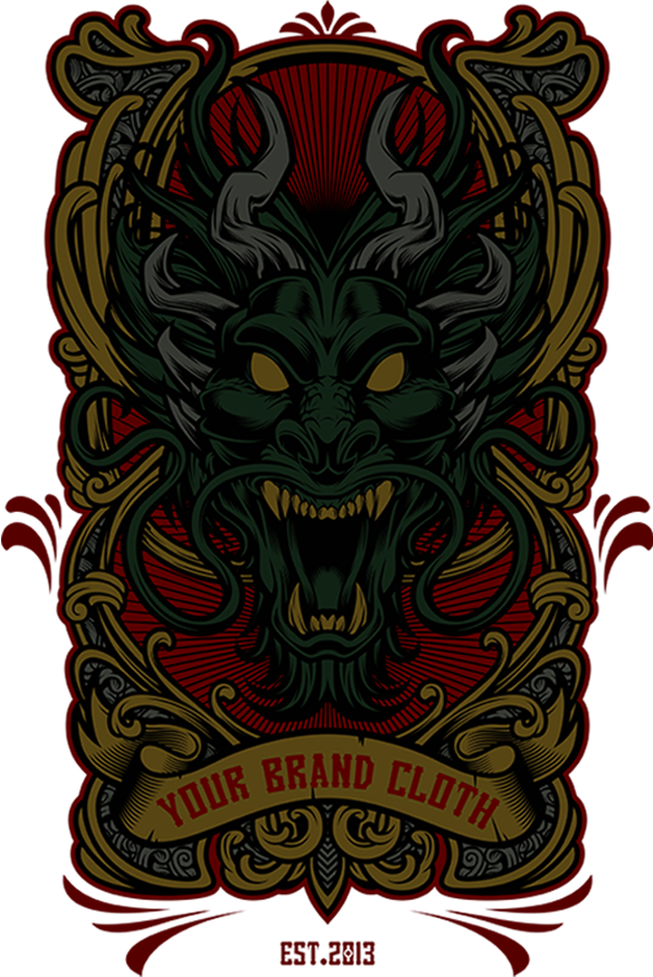 dragon vector tshirt design template on behance