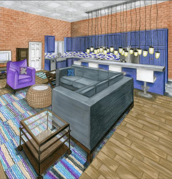 Interior Design Studio 1 Residential Design On SCAD Portfolios