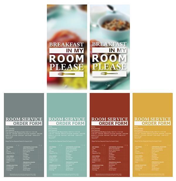 Door Hanger Graphic Design room service door hangers on behance