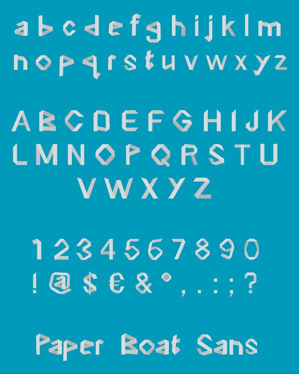 Paper Boat Font Download