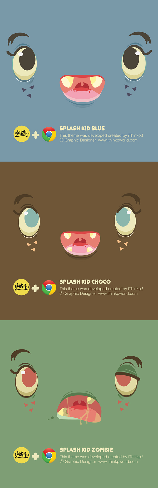 Google chrome themes zombie - Splash Kid Zombie Theme