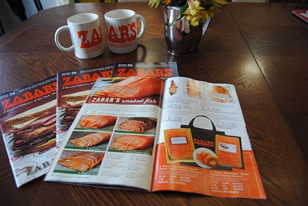 Zabar's 80th Anniversary Catalog Design Fish Section
