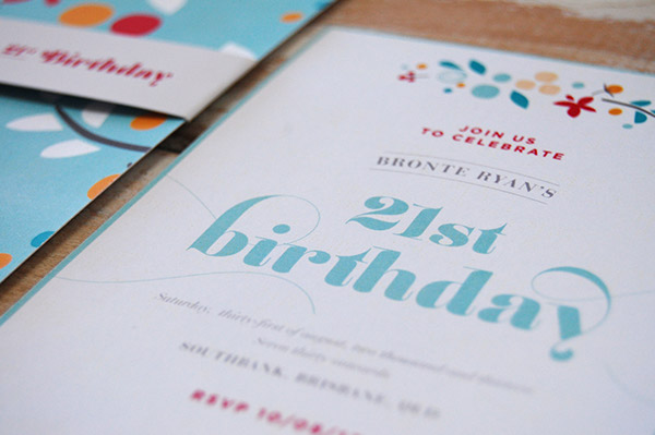 Invitation design stationary 21st floral pattern
