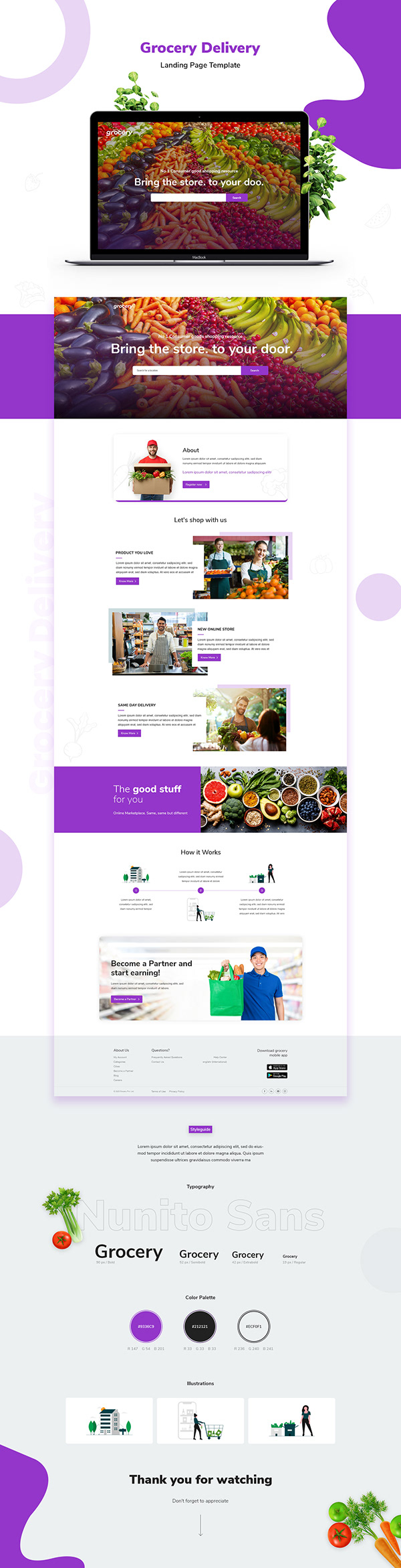 Landing Page of Grocery Delivery