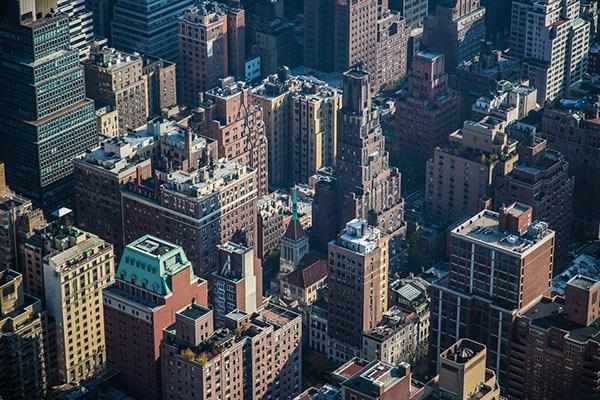 dense new york city buildings streets traffic polution population skyscrapers usa newyork Travel