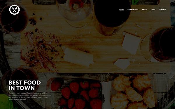 restaurant menu contact map reservation fullwidth fluid image