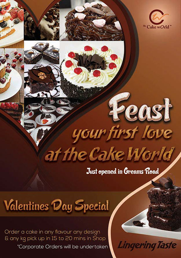 Cake World Promotional Poster on Behance