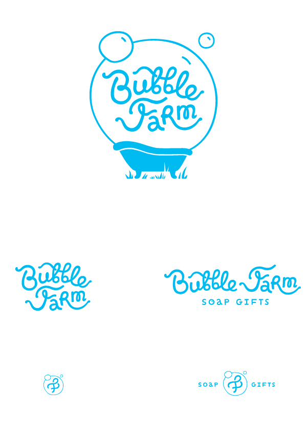 bubble farm logo on behance