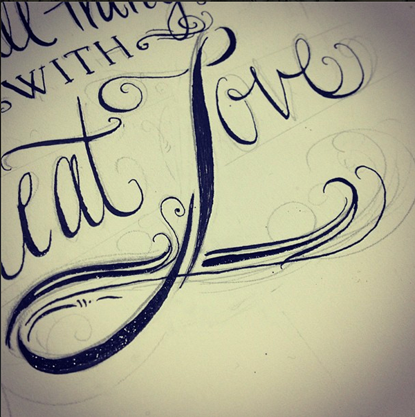lettering hand-drawn type