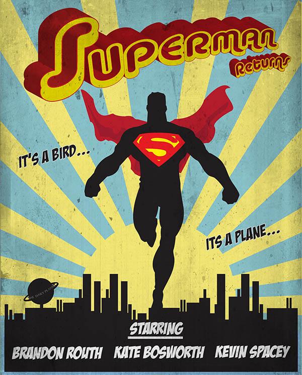 vintage superman poster on behance