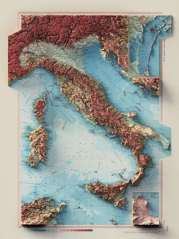 Italy - 3D Cartography
