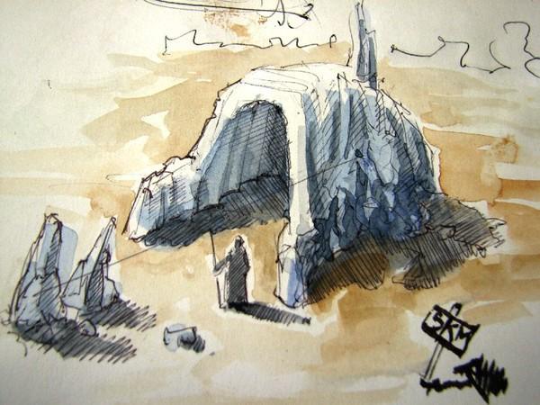 sketching Blackbook concept art CG