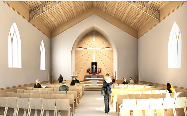 Attractive Here Is A Sketch Offer For A Catholic Church Interior Design. The Main Idea  Is Simplicity Of The Premises And Spreading Light From Divine Love Of Jesus  The ... Images
