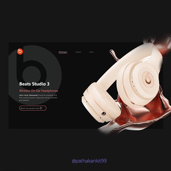 Beats Website Concept