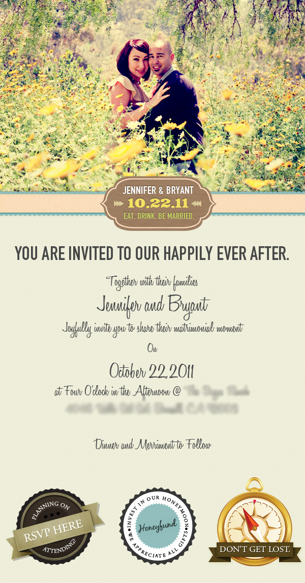 Email wedding invitation on behance for E wedding invitation video free